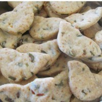 Parmesan and green olive biscuits