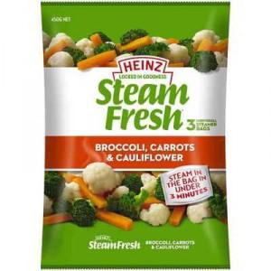 Heinz Steam Fresh Broccoli Carrot & Cauli