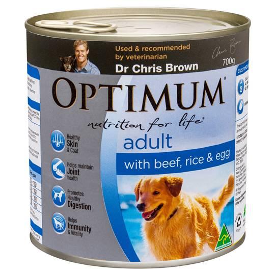 Jessica reviewed Optimum Adult Dog Food Beef Rice & Egg