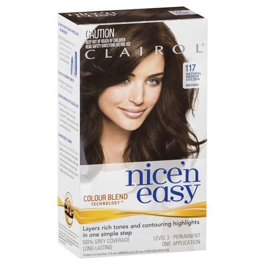 Clairol Nice N Easy 117 Natural Medium Golden Brown