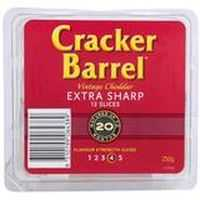 Cracker Barrel Extra Sharp Cheese Slices