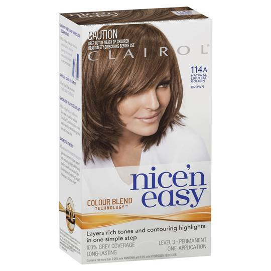 Clairol Nice N Easy 114a Natural Lightest Golden Brown