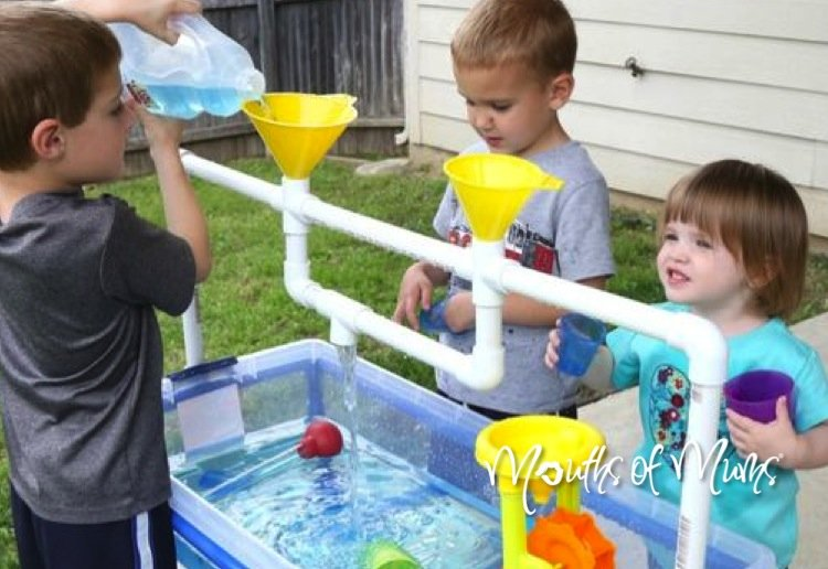 Make a sand or water table for the kids