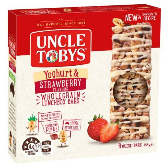 Uncle Tobys Yoghurt Topps Strawberry