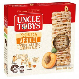Uncle Toby's Muesli Bar Yoghurt Topps Apricot
