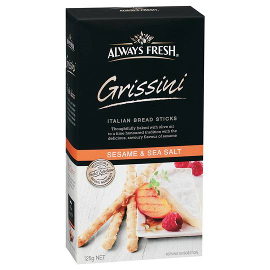 Always Fresh Grissini Crispbread Sesame And Sea Salt