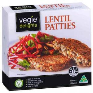 Sanitarium Vegie Delights Lentil Patties