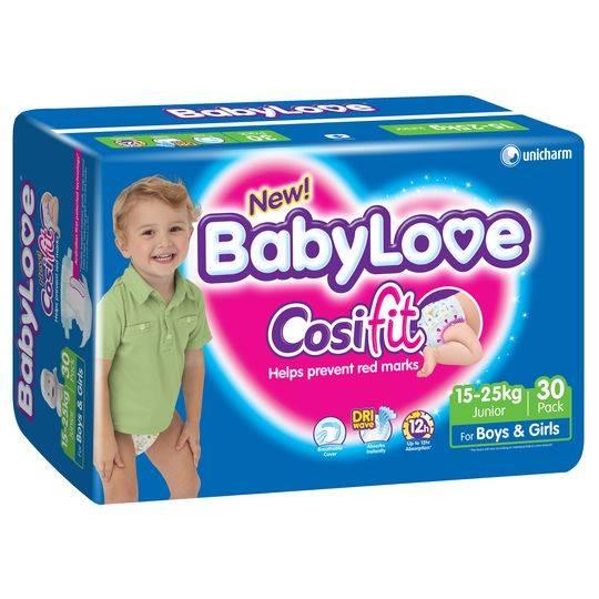 Babylove Cosifit Nappies Junior 15-25kg Bulk