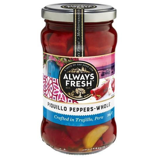 Always Fresh Capsicum Wood Roasted Piquillo Peppers