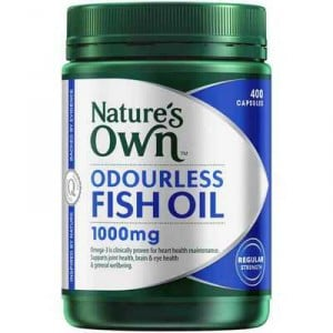 Nature's Own Odourless Fish Oil 1000mg Capsules