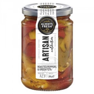 Always Fresh Artisan Collection Roasted Pepper Strips with Feta