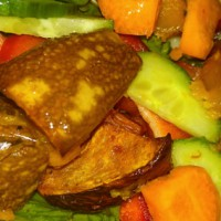 Balsamic pumpkin and feta salad