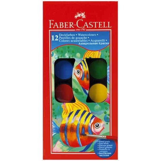 Faber-castell Watercolour Tablets 12 Colours