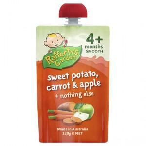 Rafferty's Garden Food 4 Months+ Sweet Potato, Carrot & Apple