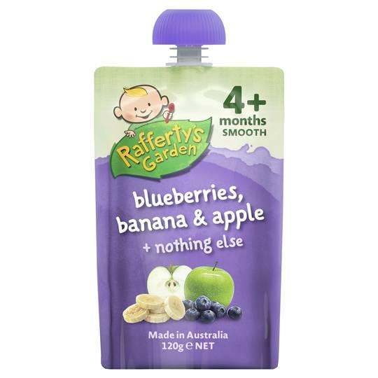 Rafferty's Garden Food 4 Months+ Blueberries, Banana & Apple