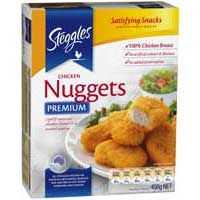 Steggles Chicken Pieces Breast Nuggets Crumbed