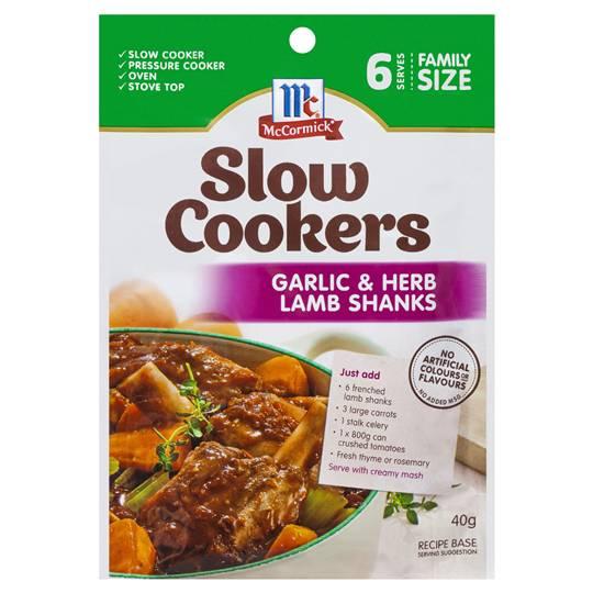 Mccormick Slow Cookers Garlic & Herb Lamb Shanks