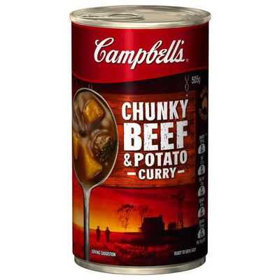 ... Chunky Canned Soup Beef & Potato Curry Ratings - Mouths of Mums