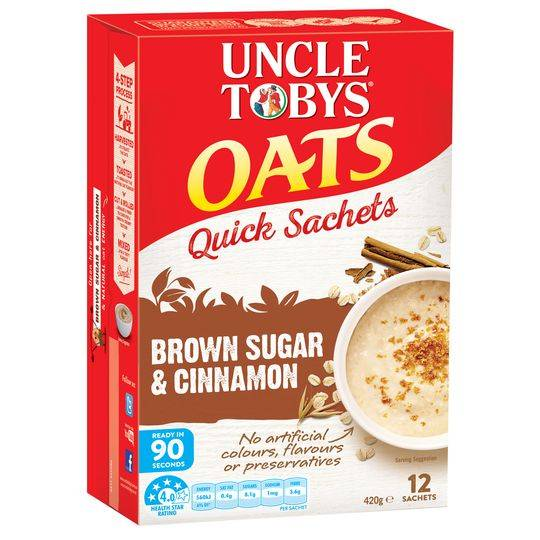 mom380127 reviewed Uncle Tobys Quick Oats Sachets Brown Sugar & Cinnamon