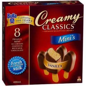 Bulla Creamy Classics Ice Cream Mini's Vanilla