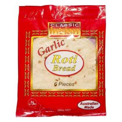 Classic Indian Bread Roti Garlic