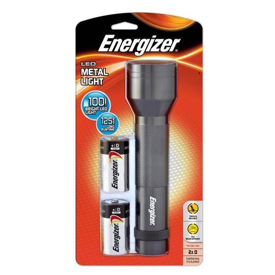 Energizer Metal Led Flashlight 2 D Type