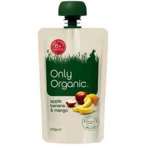 Only Organic 6 Months+ Apple Banana & Mango