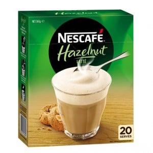 Nescafe hazelnut latte