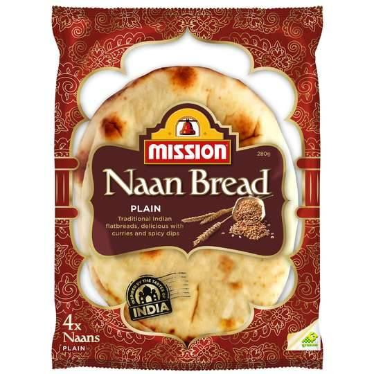 Mission Naan Bread Plain