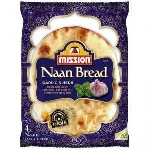 Mission Naan Bread Garlic & Hreb