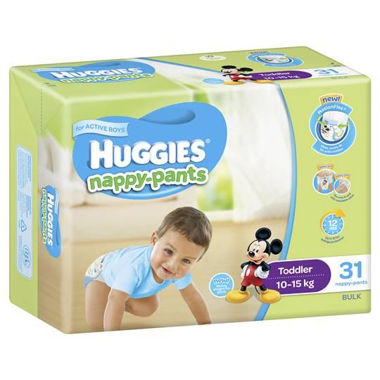 Huggies Nappy-pants Toddler Boy 10-15kg Bulk