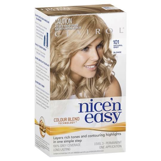 Clairol Nice N Easy 101 Natural Baby Blonde