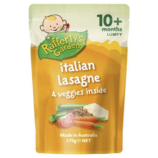 Rafferty's Garden Food 10 Months Italian Lasagne