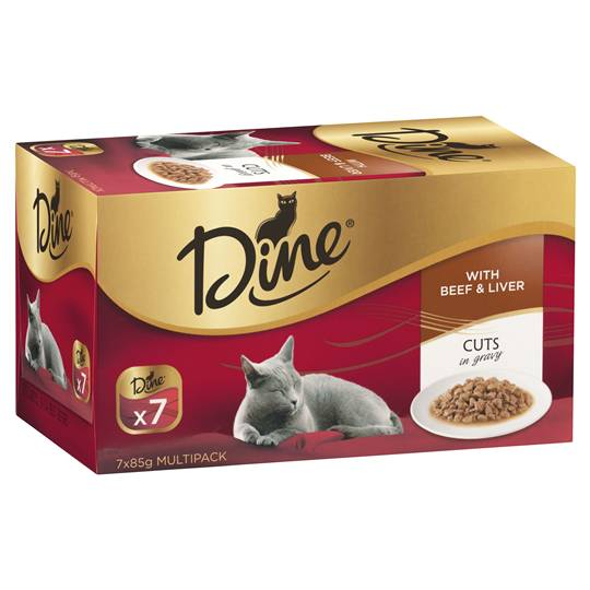 Dine Adult Cat Food Beef & Liver In A Rich Gravy