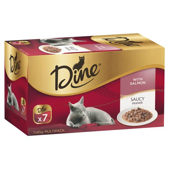 Dine Adult Cat Food Morsels With Salmon