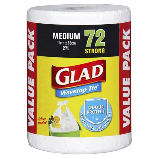 Glad Kitchen Tidy Bags Medium Wavetop 51cmx65cm