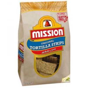 Mission Tortilla Strips White Corn
