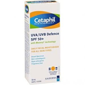 Cetaphil Facial Moisturiser Uva/uvb Spf 50+ All Types