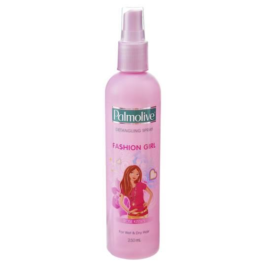 Palmolive Fashion Girl Kids Hair Care Rose Petal Detangler