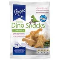 Steggles Crumbed Chicken Dino Snacks Tempura