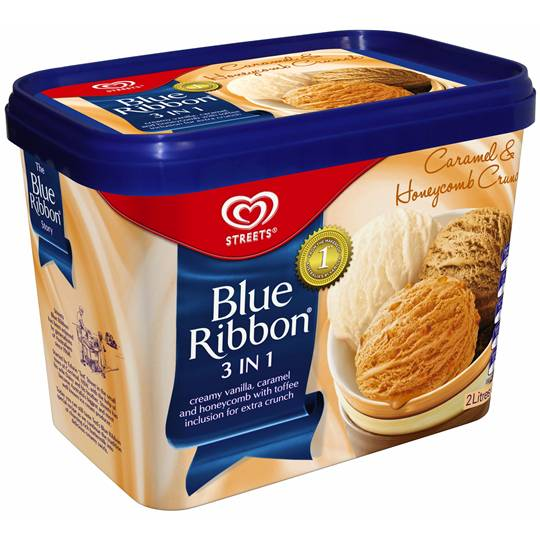 Streets Blue Ribbon 3 In 1 Ice Cream Caramel & Honeycomb Crunch