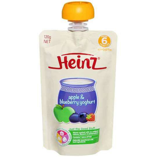 Heinz Pouch Apple & Blueberry Yoghurt