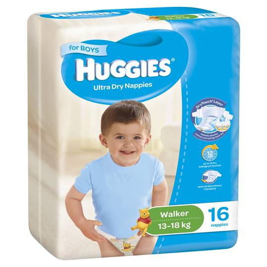 Huggies Nappies Ultra Dry Walker For Boys