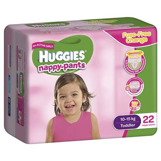 Purpleunicorn reviewed Huggies Nappy Pants Toddler For Girls
