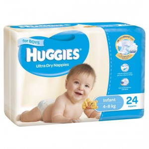 Huggies Nappies Ultra Dry Infant For Boys