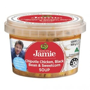 Created With Jamie Soup Chipotle Chicken, Black Bean & Sweetcorn