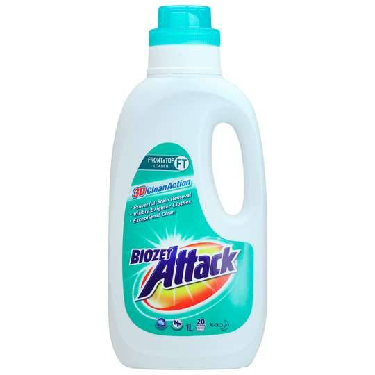Biozet Attack Front & Top Loader Regular Laundry Liquid