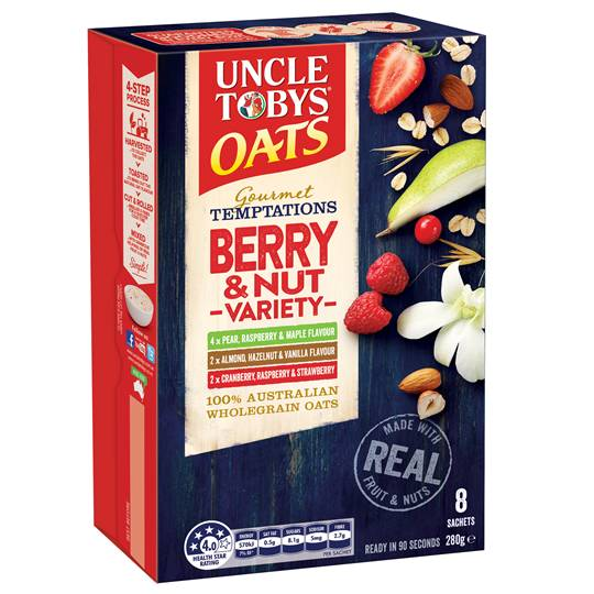 Uncle Toby's Gourmet Temptations Berry & Nut Variety