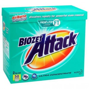 Biozet Attack Front & Top Loader Laundry Powder