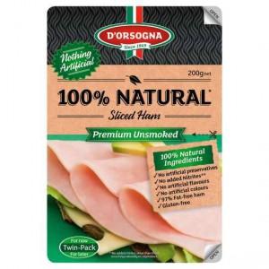 D'orsogna 100% Natural Premium Unsmoked Sliced Ham